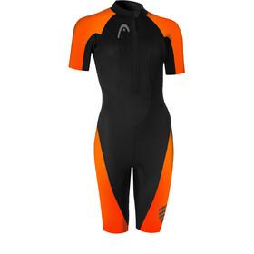 Head Swimrun Multix Shorty 2.5 Wetsuit Dames, zwart/oranje